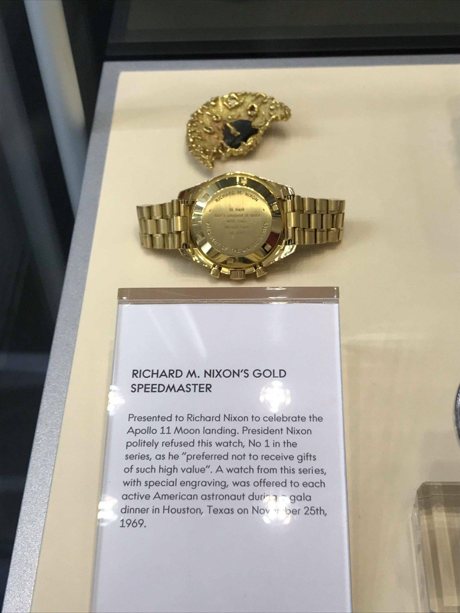 Richard Nixon Speedmaster, Moonwatch, Omega Museum, Biel, Switzerland