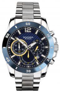 Sekonda Men's Stainless Steel Bracelet Chronograph Watch