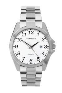 Sekonda Men's White Dial Full Figure Bracelet Watch