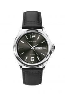 Sekonda Men's Steel Dark Brown Dial Leather Strap Watch