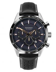 Sekonda Men's Chronograph Leather Watch