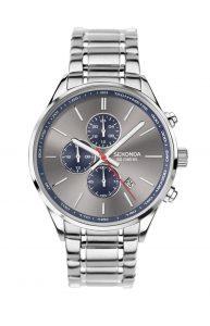 Sekonda Men's Grey Chronograph Dial Bracelet Watch