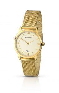 Sekonda Ladies' Gold Plated Mesh Bracelet Watch