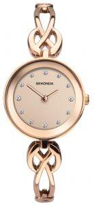 Sekonda Ladies' Woven Rose Gold Tone Bracelet Watch